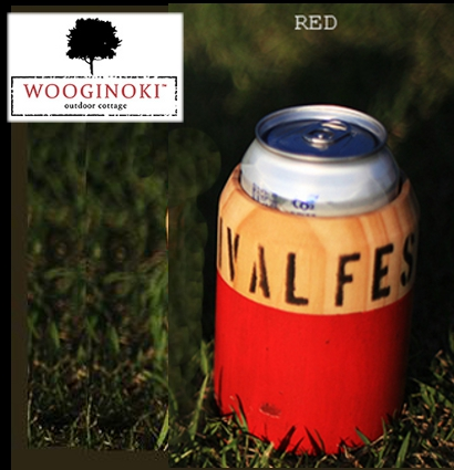 Wooginoki 原木杯套/隔熱杯套/野餐/風格露營餐桌小物 W025-RED紅/台北山水
