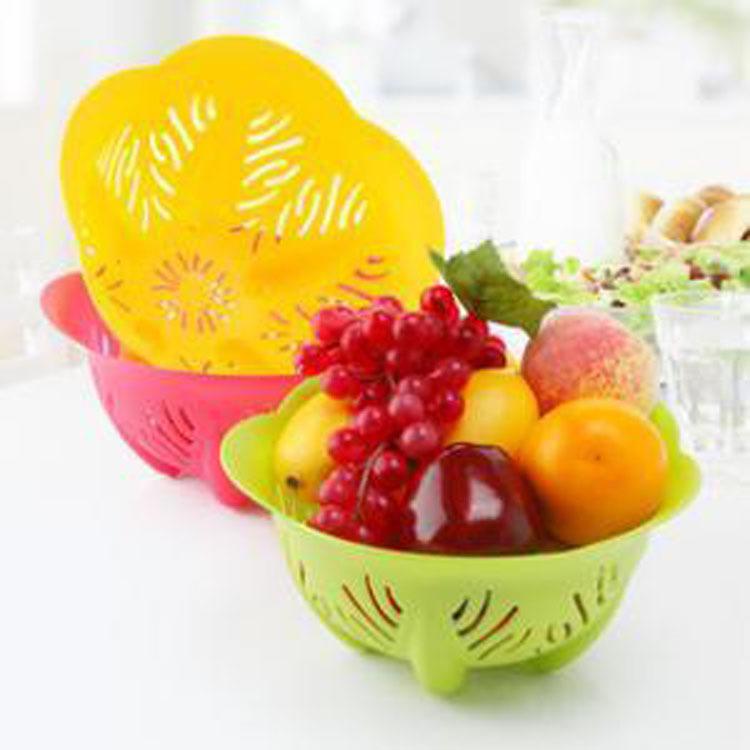 時尚創意碗形水果籃 蔬菜盤 洗菜籃29元【省錢博士】
