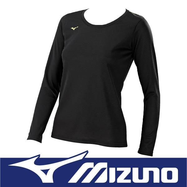 萬特戶外運動 MIZUNO美津濃 32MA685009 女長袖T恤 發熱衣 保暖 SlimFit 合身 黑色