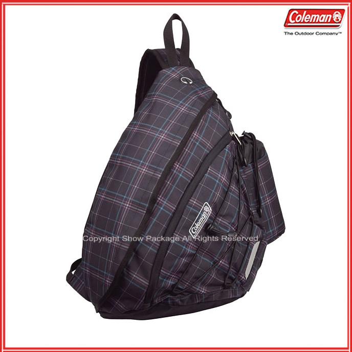 請詢問庫存【騷包館】【Coleman】美國戶外品牌 多功能收納單肩後背包 黑格紋 CM-S202JMBCK