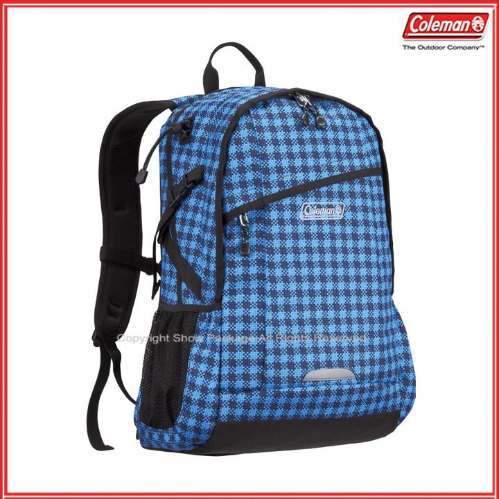 預訂【騷包館】【Coleman】美國戶外品牌 休閒實用後背包 25L 花格藍 CM-B450JMBLG