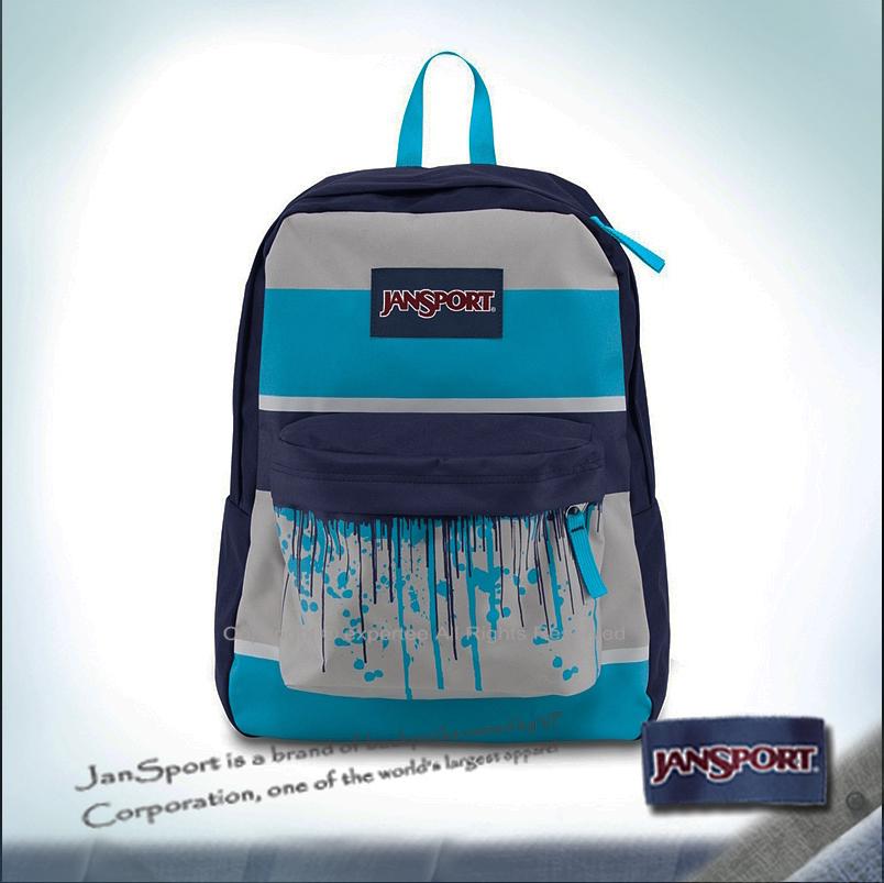 請詢問庫存【騷包館】JANSPORT專櫃 輕型校園後背包 水滴藍 JS-43501JZH4