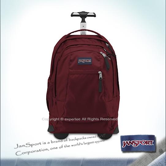 【騷包館】JANSPORT美國專櫃品牌 外出方便 電腦托輪背包 聖誕紅 JS-43743J9FL