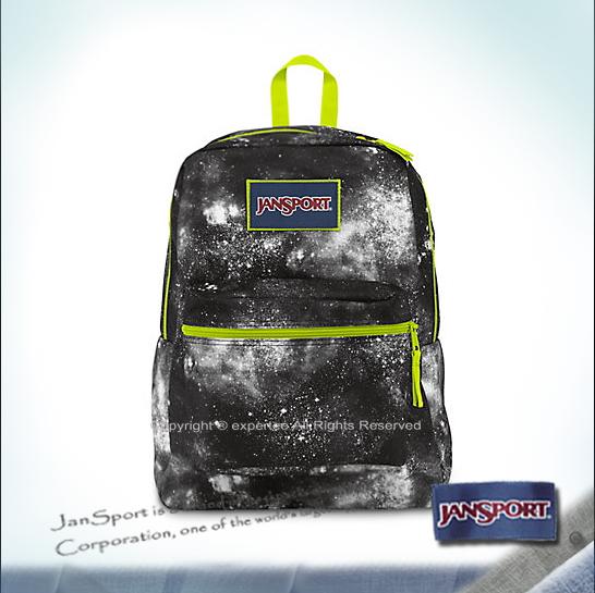 【騷包館】JANSPORT專櫃 限定款亮眼撞色後背包 黑色金屬銀河 JS-43502J02D
