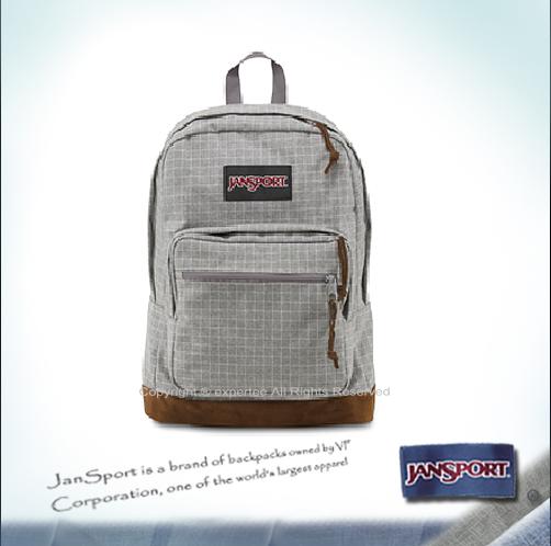 請詢問庫存【騷包館】JANSPORT美國專櫃品牌 個性麂皮後背包 灰色方格 JS-43971J04M