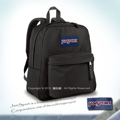 【騷包館】JANSPORT專櫃 小版輕型校園後背包 黑色 JS-43911J008