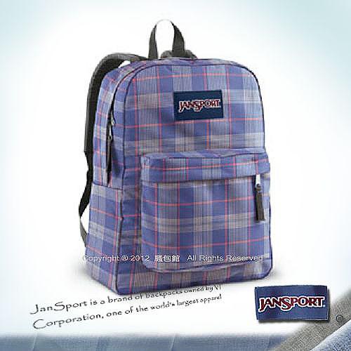請先詢問庫存【騷包館】JANSPORT專櫃 輕型校園後背包 紫色格紋 JS-43501J9MM