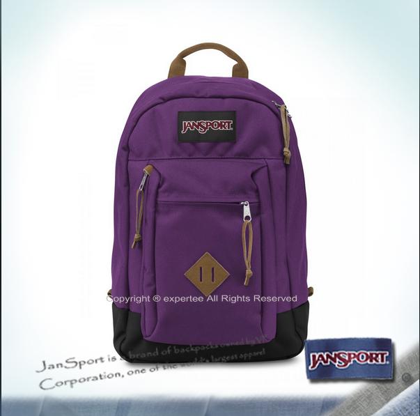 請先詢問庫存【騷包館】JANSPORT專櫃 經典麂皮豬鼻款電腦後背包 活潑紫 JS-43970J2C8