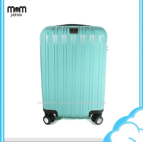 【騷包館】MOM JAPAN 日本品牌 24吋 PC輕量鏡面直線條飛機輪旅行箱 蒂芬妮藍 MF5008-24-SW