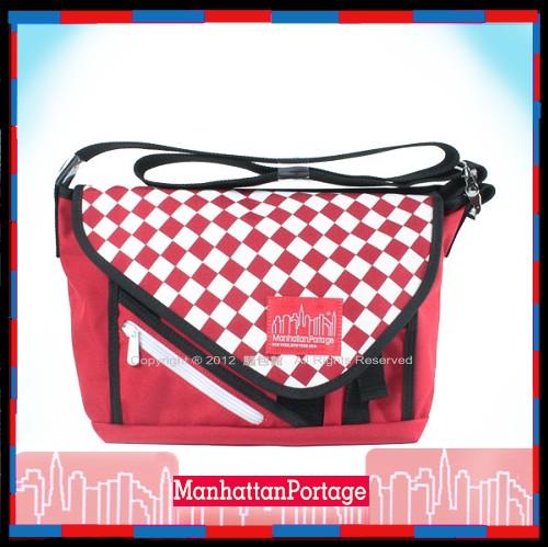 【騷包館】Manhattan Portage曼哈頓 紐約品牌 蓋式郵差包 紅棋盤格1655-RCHK