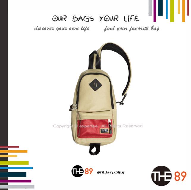 【騷包館】THE89 美國時尚品牌 撞色單邊肩後背包 黃紅 THE-942-1701-208
