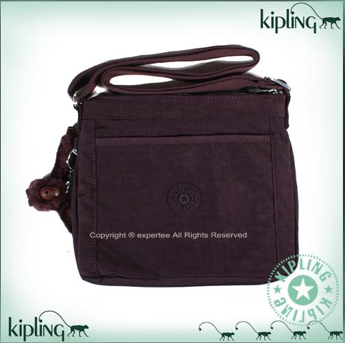 【騷包館】【Kipling】BASIC系列 直立斜背小包==魅惑深紫 K-375-6617-644