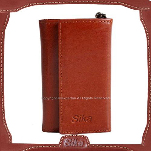 【騷包館】Sika 義大利牛皮 對開鑰匙包 咖啡色A8222-01