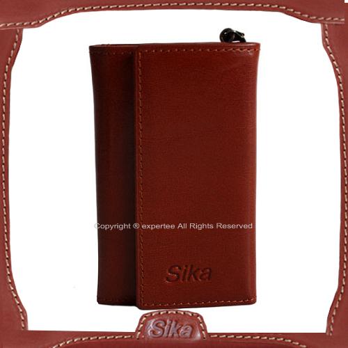 【騷包館】Sika 義大利牛皮 對開鑰匙包 深咖啡A8222-02