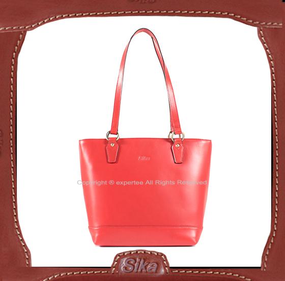 【騷包館】Sika 水蠟牛皮 時尚肩背水桶包 紅 SK-H6134-R