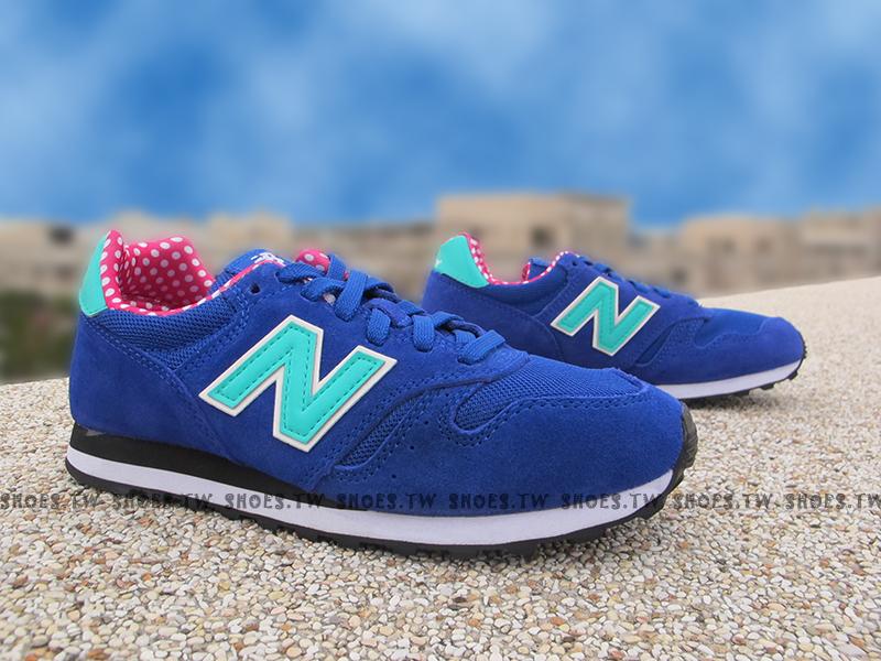 《超值6折》Shoestw【WL373BGP】NEW BALANCE 373 復古慢跑鞋 藍蒂芬妮綠 點點 麂皮 女生