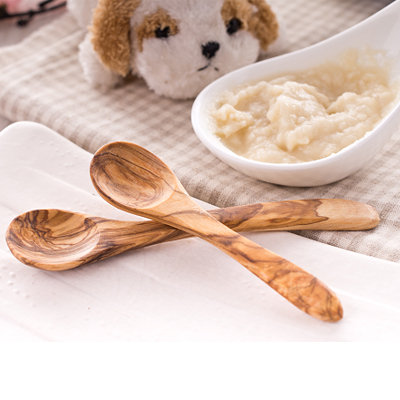 橄欖木兒童湯匙 木頭 環保 餐具【六甲媽咪】
