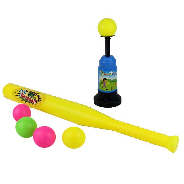 兒童自動彈射棒球打擊組 樂樂棒球棒球打擊機 棒球擊球組/一組入{促180}~兒童安全棒球打擊組~創898