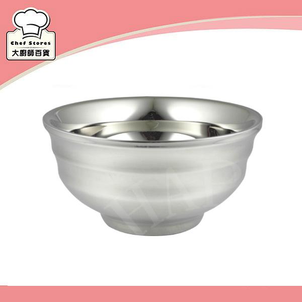 OSAMA王樣不銹鋼隔熱碗螺紋設計兒童碗13cm日式碗-大廚師百貨