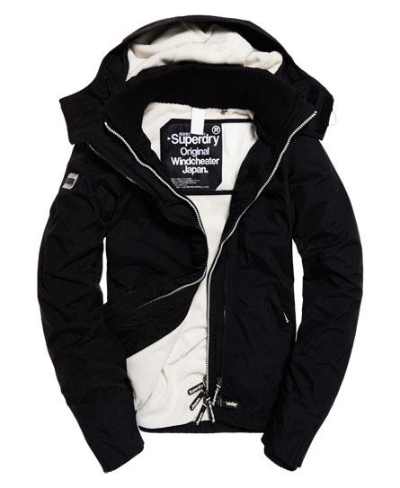 【蟹老闆】SUPERDRY 經典基本款 白色內裡黑色外套 防風外套 防潑水機能性風衣外套 黑標 女款