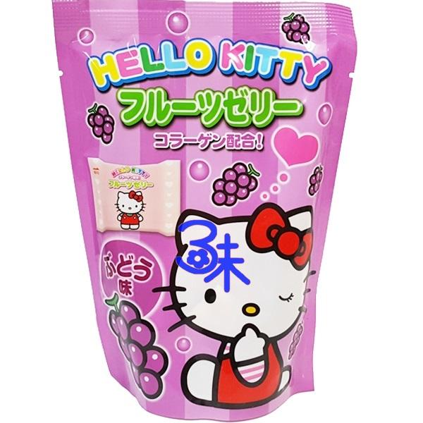 (日本) 浪速 凱蒂貓果凍- 葡萄果凍 1包 110 公克 特價 53 元 【4902398700561 】浪速 Hello Kitty 葡萄果凍