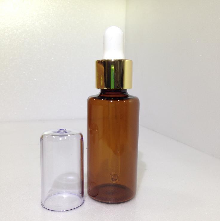 【都易特】滴管瓶 30ml 茶色 金環 白色乳膠 含蓋 台製 空瓶