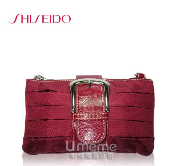 資生堂 限量紅色時尚手拿包/肩背包