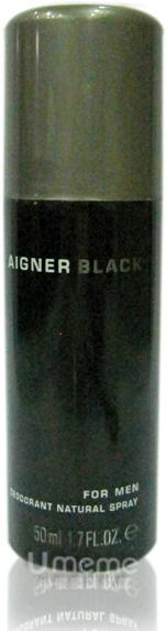 AIGNER艾格納 BLACK FOR MEN 真我男性香體噴霧 50ml  《Umeme》
