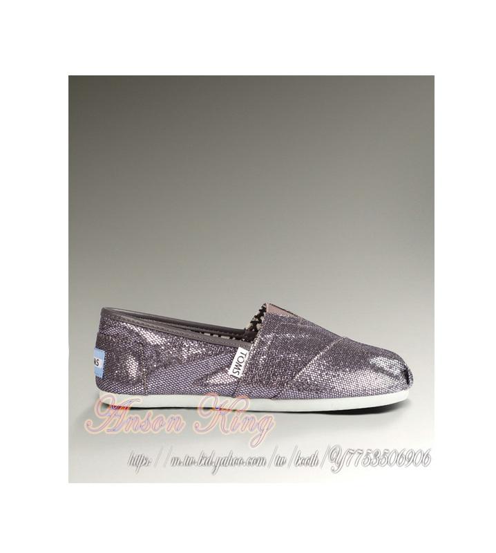 [女款] 國外代購TOMS 帆布鞋/懶人鞋/休閒鞋/至尊鞋 亮片系列  灰色
