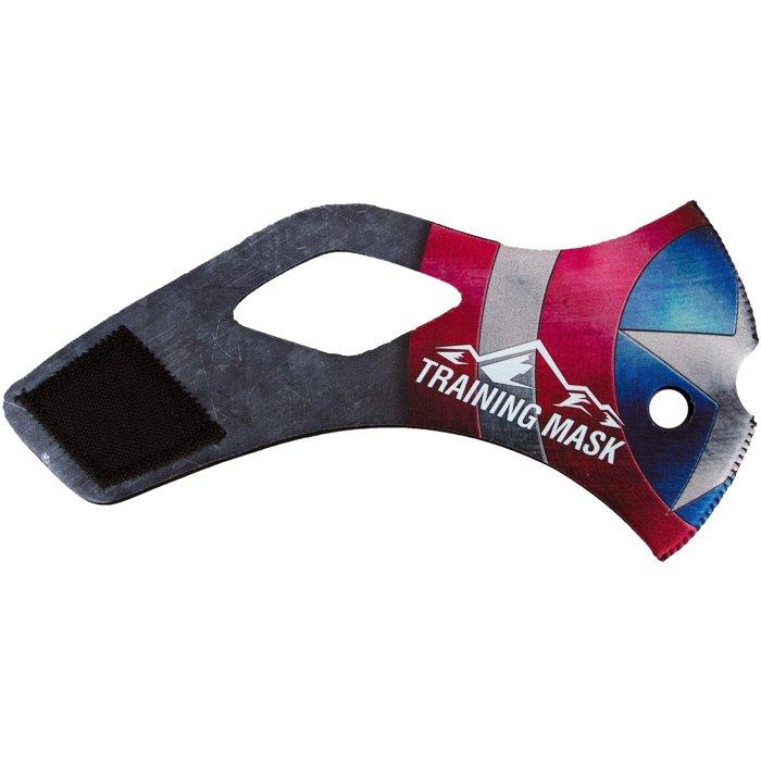 公司貨-美國隊長肺活量訓練~MMA訓練高海拔面罩Training Mask面罩皮~美國隊長面皮-M size