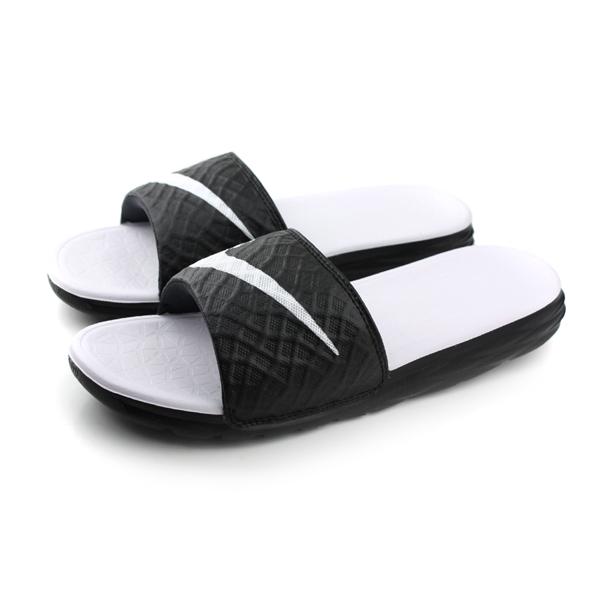 NIKE 拖鞋 白黑色 男女鞋 no400