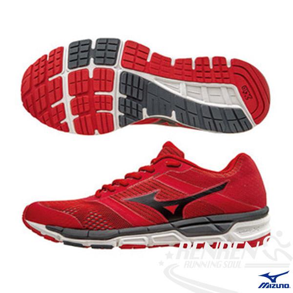 MIZUNO 美津濃  MIZUNO SYNCHRO MX 男慢跑鞋 (紅*黑) 翁滋蔓代言款