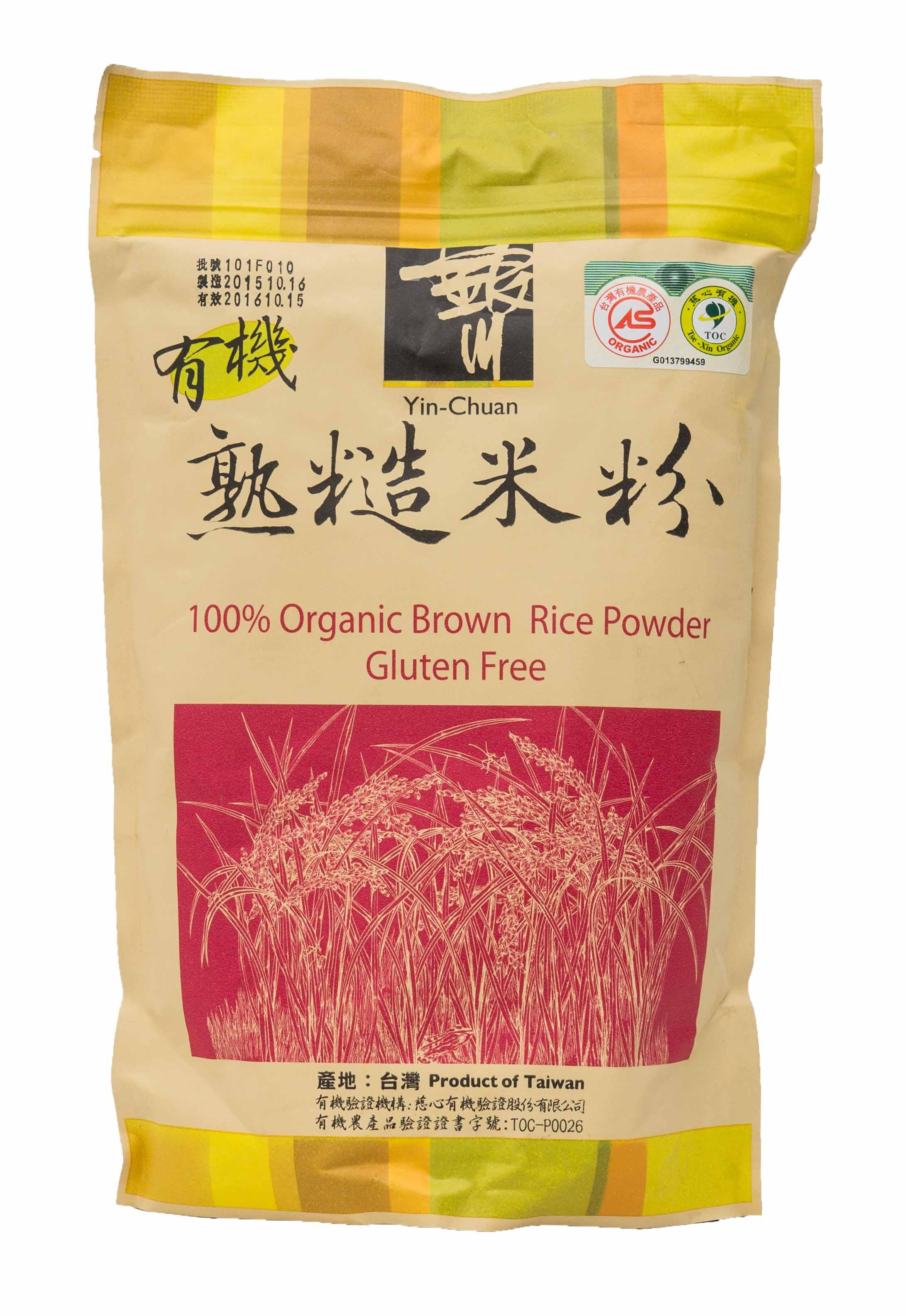 600G銀川有機熟糙米粉-來自花蓮的米