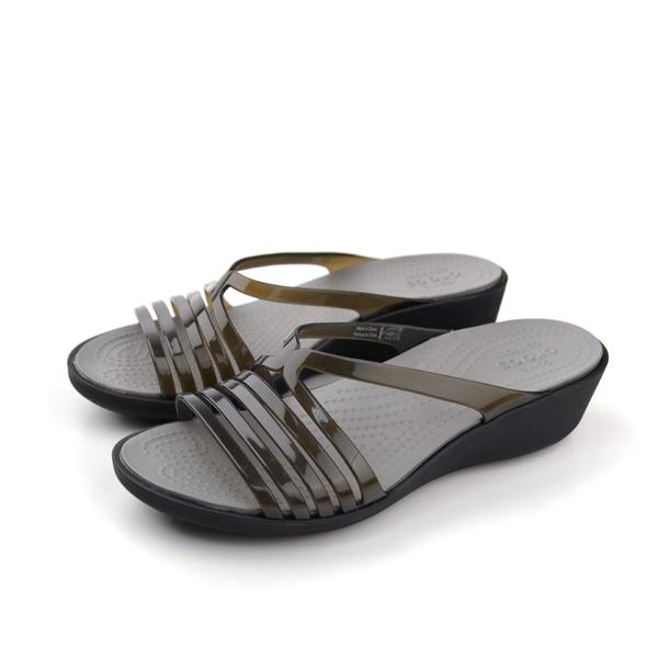 Crocs 拖鞋 黑 女款 no370