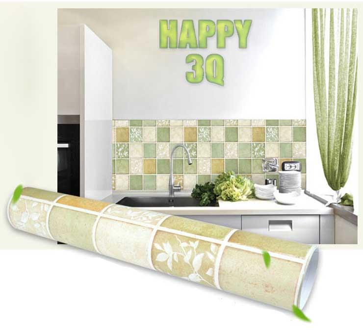 壁紙廚房廁所防水浴室環保磚紋馬賽克牆貼瓷磚貼紙自粘牆紙50X50CM-多色【AAA0338】