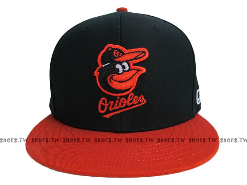 Shoestw【5562007-018】MLB 棒球帽 調整帽 潮流帽 金鶯隊 黑橘 雙色款