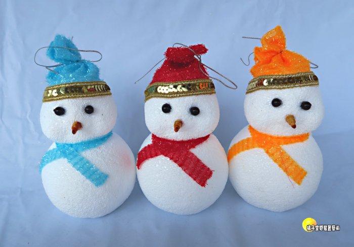 [橘子空間裝置藝術] 聖誕節小雪人吊飾 ~繽紛聖誕節飾品~ ☆聖誕樹.居家.店面.櫥窗.玄關.大廳擺飾.節慶派對佈置☆