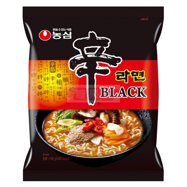 韓國農心 黑辛拉麵(牛骨濃湯風味) 內銷版  PSY江南大叔最愛