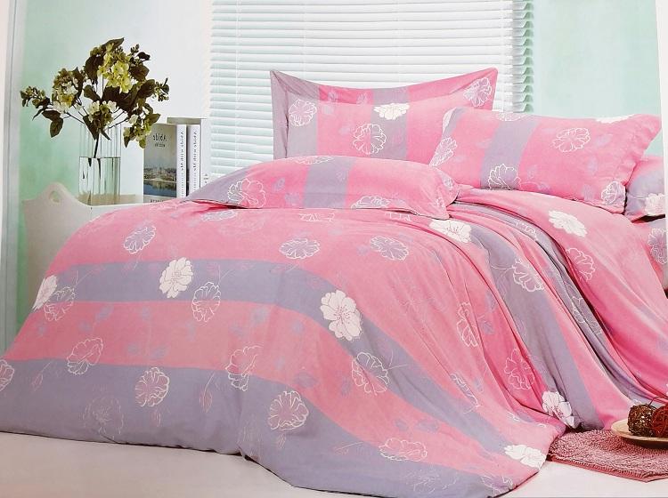 粉彩花 開  單人床包+枕頭套