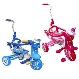 【悅兒園婦幼生活館】兒童折疊式三輪車-新幹線 (藍/粉)