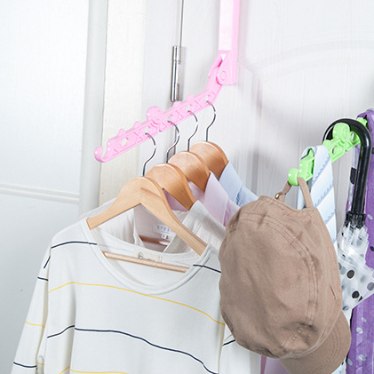 可折疊掛式門板曬衣架 衣架 《隨機出貨不挑色》