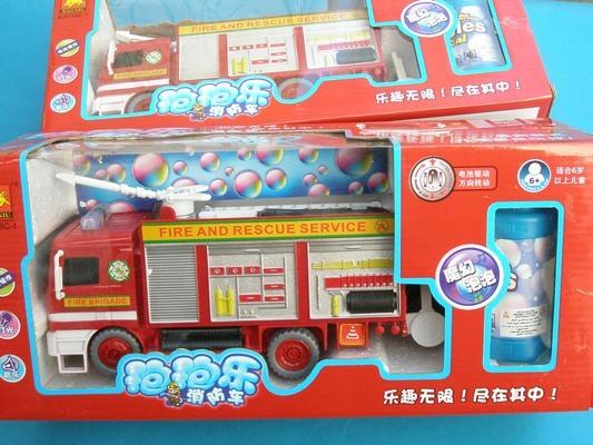 電動聲光泡泡車 B758C-1 消防泡泡車(中)/一台入{促299}