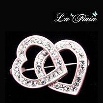 La Finia心心相印水晶胸針/粉水晶