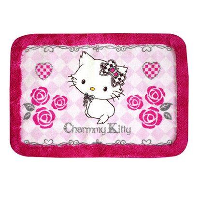 【HELLO KITTY】桃紅玫瑰地墊
