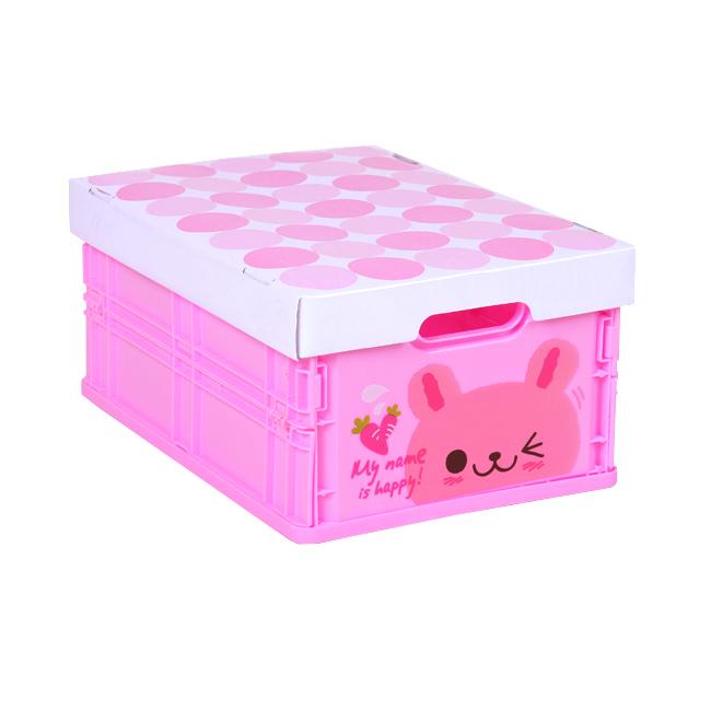 【Happy Box】可愛動物摺疊式收納箱 (小兔) 免運費