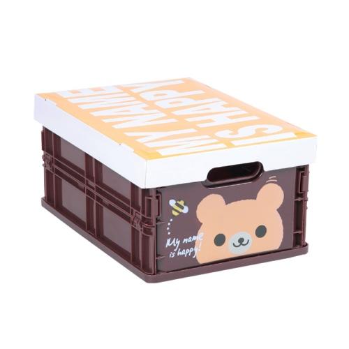 可愛動物摺疊式收納箱 (小熊)