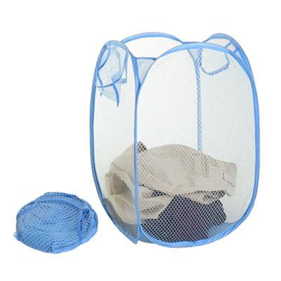 【Color Life】折疊式洗衣收納籃(藍色) *1入