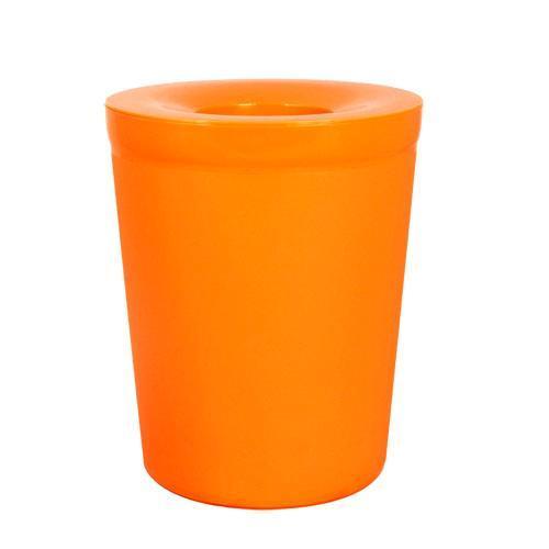 【Simple Life】實用加蓋垃圾桶-6L(橘色)