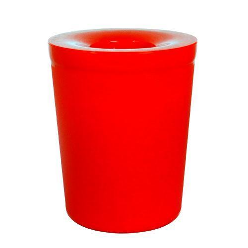 【Simple Life】簡單生活 實用加蓋垃圾桶-6L(紅色)