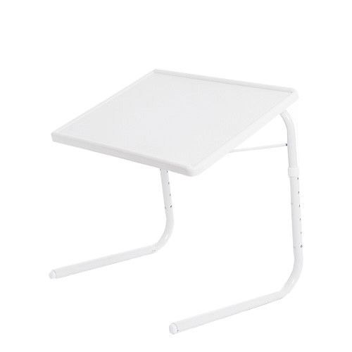 【智慧王】可折疊升降電腦桌/餐桌-白色